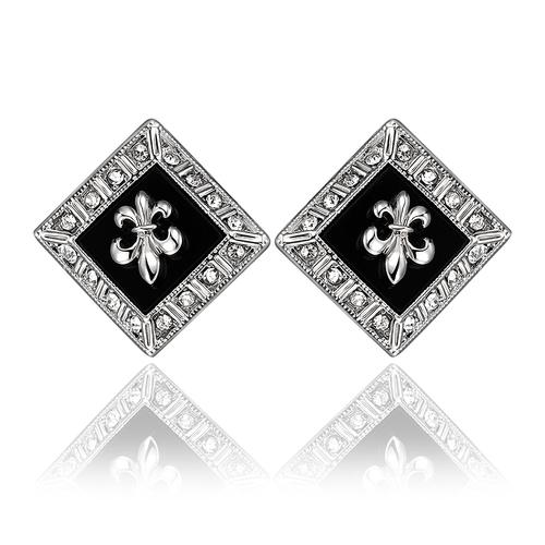 Обeци ТИЛИЯ, 18К бяло злато, колекция Zerga Brand, Код 18KG E91910-C