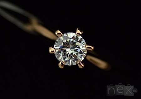 Пръстен 'Rose Joy' с кристали Swarovski Elements и 18K златно покритие