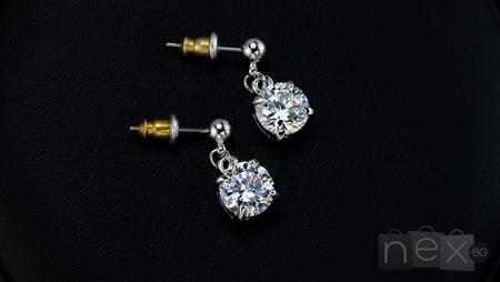 Обеци 'Helen' с кристали Swarovski Elements и 18K златно покритие