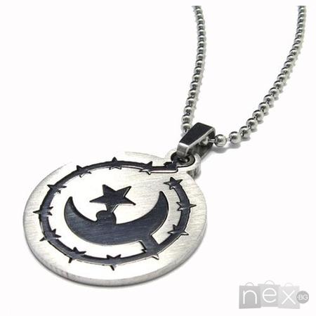 Unisex медальон 'Moon' 316L
