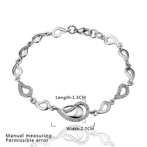 18KG S28297 Комплект СРЕБЪРНА СЪЛЗА, колие, обеци и гривна - Zerga Jewelry