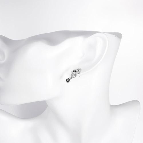 Колие и Обеци БИЛБАО с 18К Бяло Злато и Черен Емайл, Zerga Brand, Код 18KG S92023-C