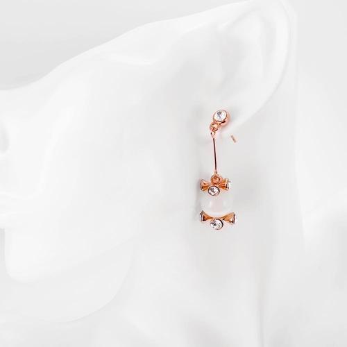 Обеци ЧИКАГО с 18К Розово Злато, Zerga Brand, Код 18KG E170729-B