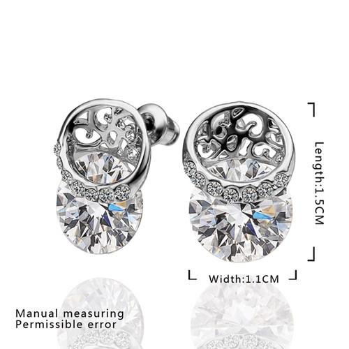 18KG E52096 Обици МЕЛАНИ със Сваровски Кристали, Zerga Jewelry