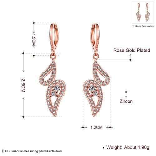 Обеци СИЯНИЕ с розово златно покритие, Zerga Brand, Код 18KG E01519-B