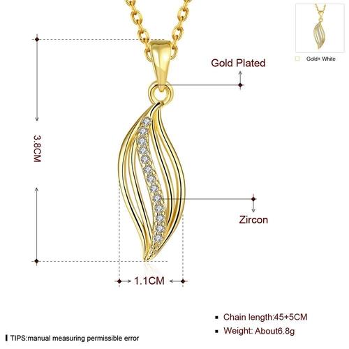 Колие  ЗЛАТНА ЛИНИЯ с 18К Жълто Злато, Zerga Brand, Код 18KG N01015-A