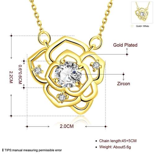Колие ЗЛАТНИ ЦВЕТЯ с 18К Жълто Злато, Zerga Brand, Код 18KG N02324-A