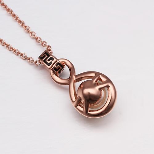 18KG N61087 Колие РИМСКА ПЕРЛА, Zerga Brand с 18К розово златно покритие