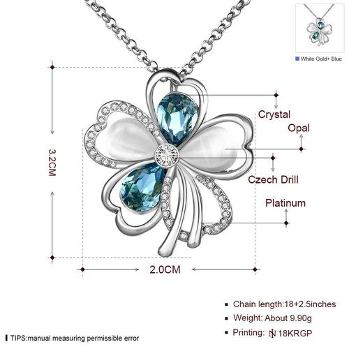 Обеци, гривна и колие БЛУ ЛЪКИ от Zerga Jewelry, 18KG S82538-C-3