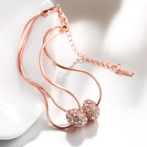 Гривна ПРИМАВЕРА с розово златно покритие, Zerga Brand,  Код 18KG B02120