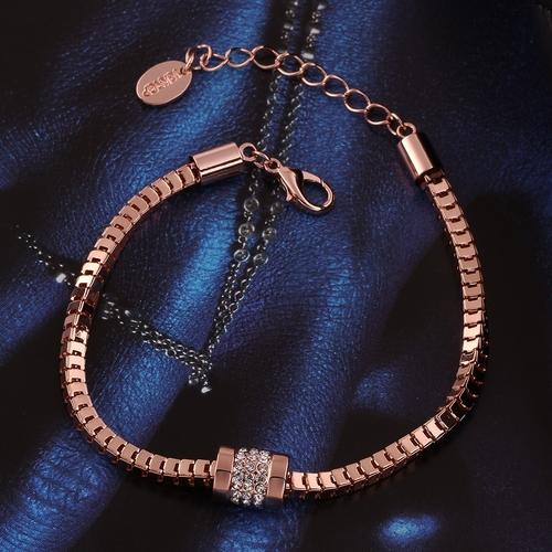 Дамска гривна НАДИН, Zerga Brand - розово златно покритие, Код 18KG B02771