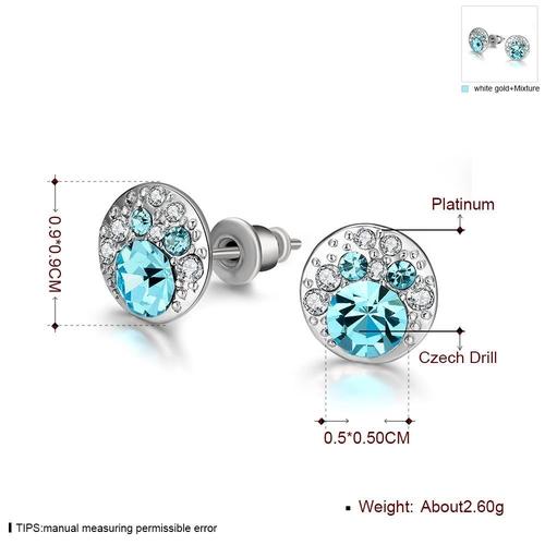 Обеци ТЕРА с Австрийски кристали, Колекция Zerga Brand, Код 18KG E02427-B