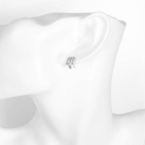 Обеци ЛЕБЕДОВИ ПЕРА 18К Бяло Злато, Колекция Zerga Brand, Код 18KG Е11036