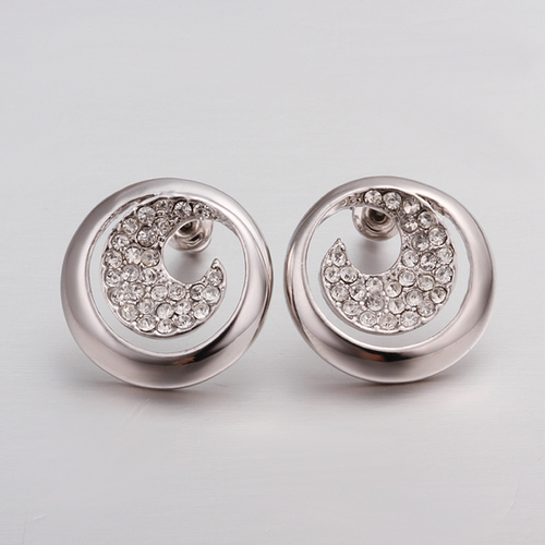 Обeци ЯСМИН, 18К бяло злато, колекция Zerga Brand, Код 18KG E41013