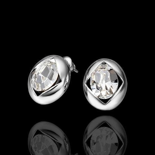 Обeци ИРЕНА, 18К бяло злато, колекция Zerga Brand, Код 18KG E41719
