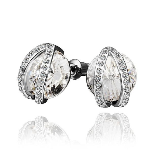 18KG E41903 Обеци КРИСТАЛЕН БЛЯН Swarovski Elements, Zerga Jewelry