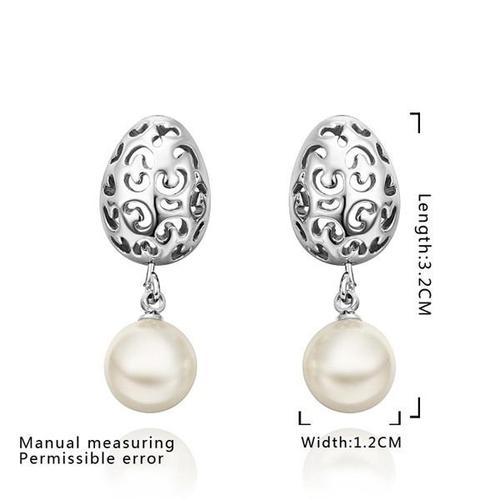 18KG E53285 Обеци ПЕРЛЕНА МЕЧТА, Zerga Jewelry, синтетични перли