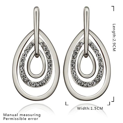 18KG E86835 Обеци НЕЖНО ЧУВСТВО, Zerga Jewelry, бяло злато