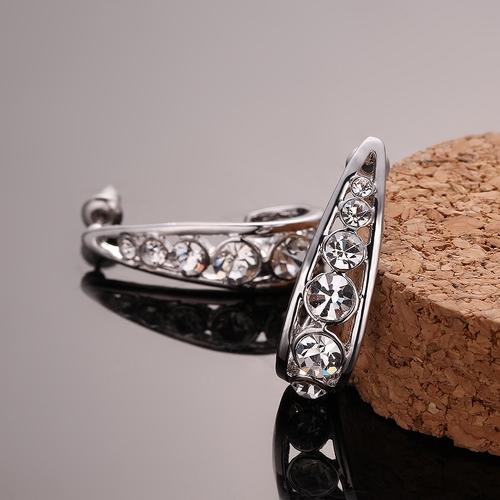 Обeци ВЕРГИНИЯ, 18К бяло злато, колекция Zerga Brand, Код 18KG E91616-C
