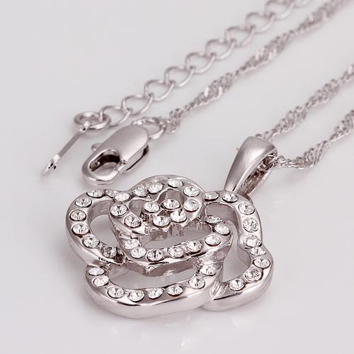 18KG N43633 Колие КРИСТАЛНО ЦВЕТЕ, бижута Zerga Jewelry