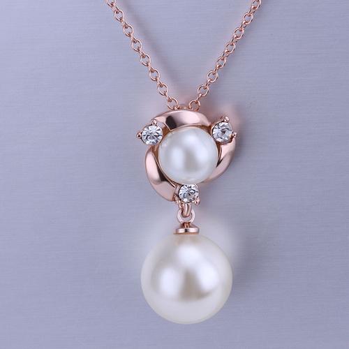 18KG S15872 Комплект бижута ПЕРЛЕН БЛЯСЪК, Zerga Jewelry - розово златно покритие