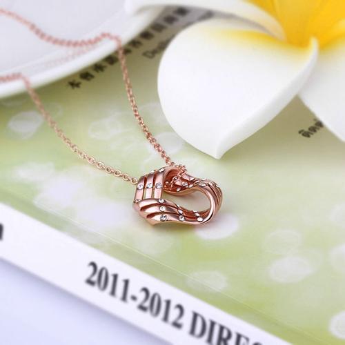 18KG N61305 Колие ЗЛАТНА ВЪЛНА, Zerga Collection, розово златно покритие