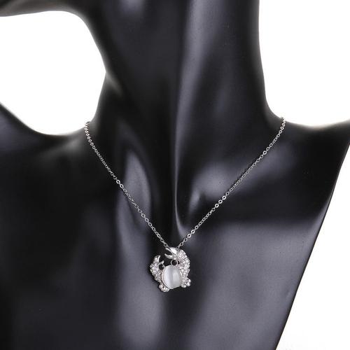 Колие КРИСТАЛНО РАЧЕ с Austrian Crystals и 18К Бяло Злато, Колекция Zerga Brand, Код 18KG N81411
