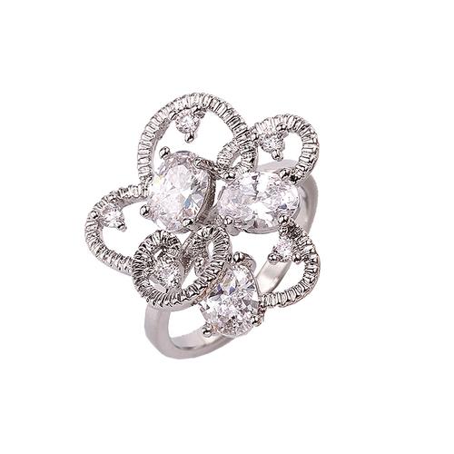 Пръстен и колие комплект ШЕЙЛА, Австрийски кристали, 18К Бяло Златно Покритие, Zerga Collection, 18KG S01416-C