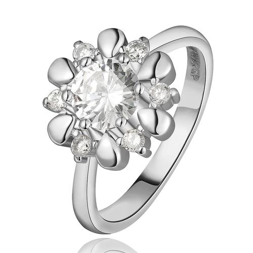 Пръстен ЛЮСИЛ, Австрийски кристали, 18К Бяло Златно Покритие Zerga Brand, Код 18KG R61810-C