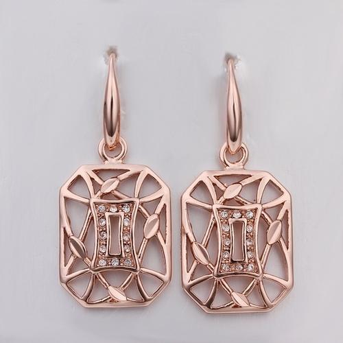 18KG E42867 Обеци РЕКТАНГЪЛ, Zerga Jewelry