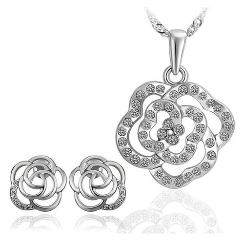 Бижута Сет  КРИСТАЛНО ЦВЕТЕ, бижута Zerga Jewelry, 18KG S37385