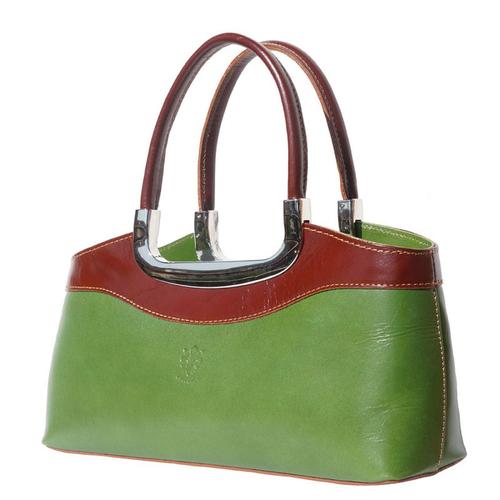 Чанта Естествена Кожа САН ЛЕО, FLORENCE, зелен/кафяв цвят, Код FL2000