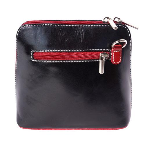 Чанта Естествена Кожа БЕЛУЧИ, FLORENCE, черен/червен цвят, Код FL2017