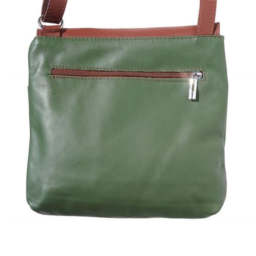 Чанта Естествена Кожа ПОРТОФИНО, FLORENCE, зелен/кафяв цвят, Код FL20861