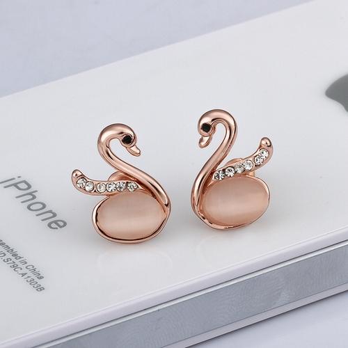 Обици ЛЕБЕДОВО ЕЗЕРО, 18К розово злато, колекция Zerga Brand, Код 18KG E91010