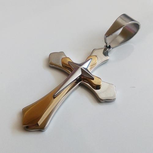 Висулка от стомана КРЪСТ, колекция BokaSTEEL, медицинска стомана, 316L P028
