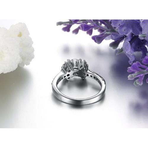 Пръстен ВЪЗХИЩЕНИЕ, стомана с инкрустирани циркони. Годежен пръстен! Размери 6, 7 и 8, Код 316L R048