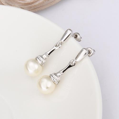 Обeци КОНСТАНС, 18К бяло злато и перли, колекция Zerga Brand, Код 18KG E81512