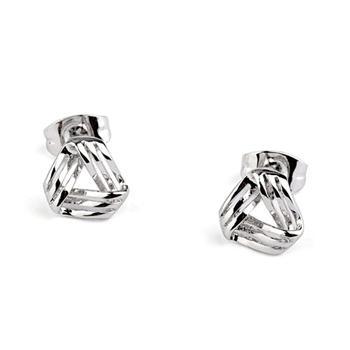 Обеци ПОРТЛАНД, Zerga Jewelry,18К бяло златно покритие, Код ZG E202
