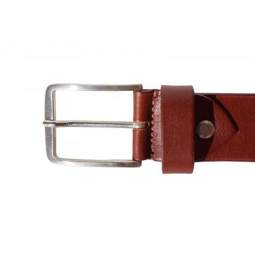 Мъжки колан Естествена Кожа САНРЕМО, FLORENCE, кафяв цвят, Код FL 4110-352