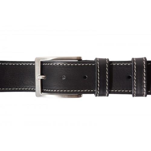 Мъжки колан Естествена Кожа БЕРГАМО, FLORENCE, черен цвят, Код FL 4113-401