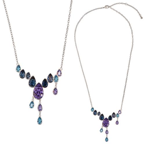 Цветисто колие Огън и Лед DSE Swarovski Elements, различни кристали и родиево покритие, Код 5087625