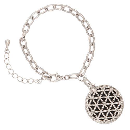 Луксозна гривна с орнамент DSE Swarovski Elements, родиево покритие, Код 5087664