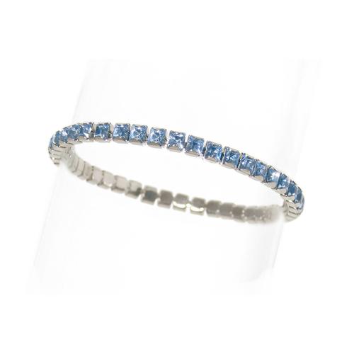 Луксозна гривна с кристали Принцес DSE Swarovski Elements, светъл сапфир, Код 5087716