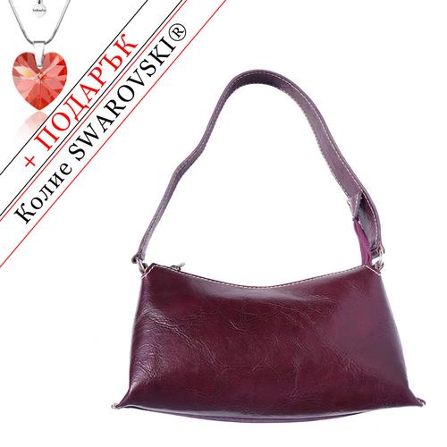 Чанта Естествена Кожа ЛАЦИО, FLORENCE, лилав цвят, Код FL6504A5
