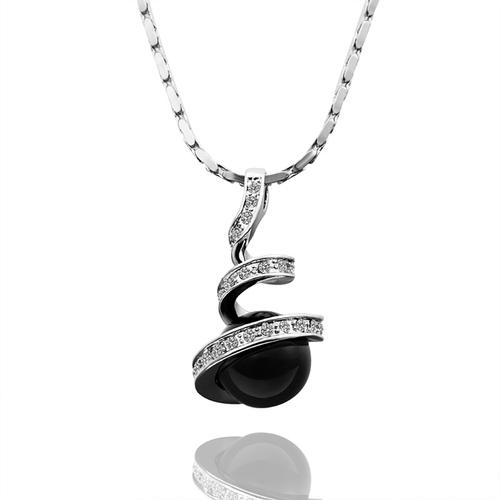 18KG S07297-А Бижута ЧЕРНА ПЕРЛА! Колие и обеци от Zerga Jewelry