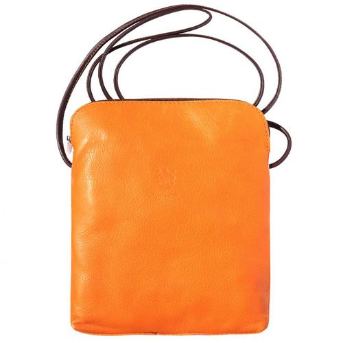Чанта Естествена Кожа РИМ, FLORENCE, оранжев/кафяв цвят, Код FL86101