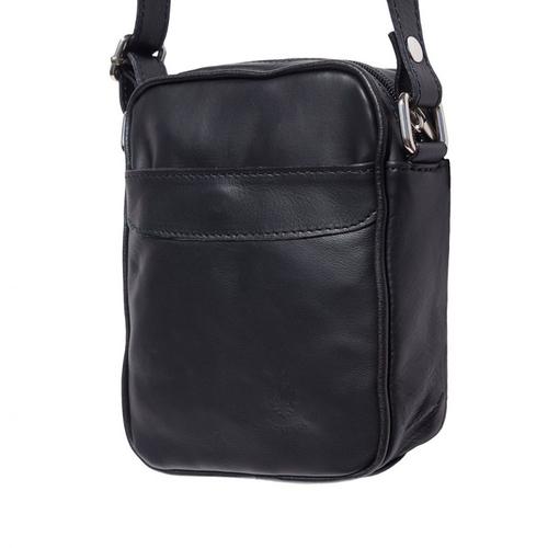 Чанта Естествена Кожа ЛОРЕНЦО, FLORENCE, черен цвят, Код FLB0323