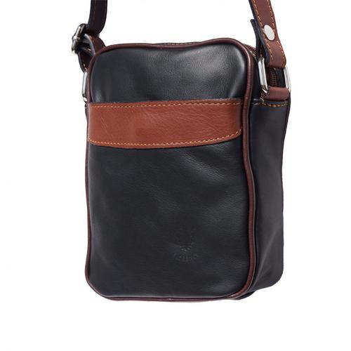 Чанта Естествена Кожа МИКЕЛЕ, FLORENCE, черен/кафяв цвят, Код FLB032A3