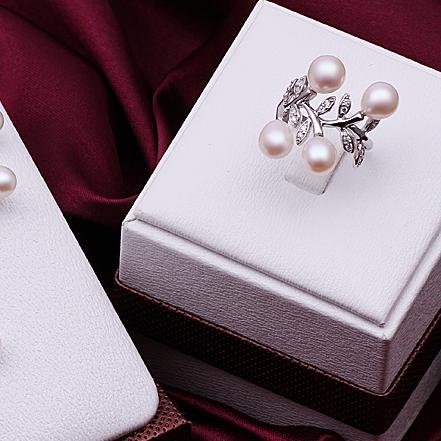 Перлен пръстен ФРЕДЕРИКА бижута от Колекция Перли Caprice, CPR R09018